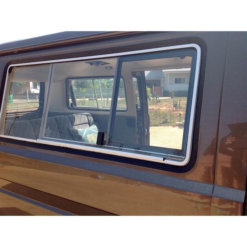 Vitre lat rale coulissante westfalia pour bus vw t3 type17 asia - Glissiere pour vitre coulissante ...