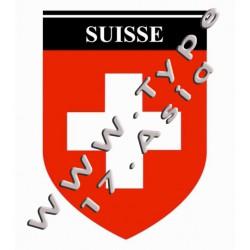 """Autocollant """"Suisse"""""""