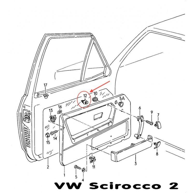 clips interior trim  golf  bus vw t3 - t4  etc