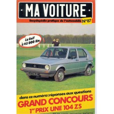 """Ma voiture"" Magazine - June 82 - Golf 1"