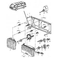 Rectangular fastening lugs Bus VW T3