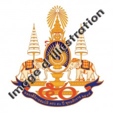 Sticker emblem of the 50th anniversary of the King of Thailand
