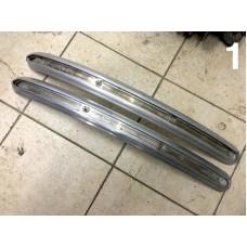 VW split aluminum front bumper moldings